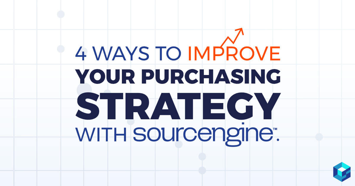 4 ways to improve your purchasing strategies for electronic components. Learn how Sourcengine can help you with all your needs.
