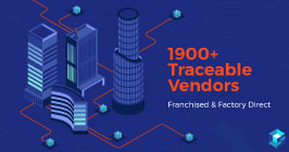 Image with 1900+ traceable vendors printed on it. Since then, Sourcengine now has 2,600+ traceable vendors and offers a 3-year warranty on all electronic components purchased through the marketplace.