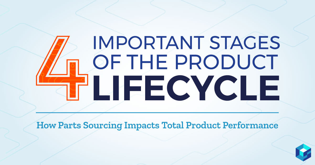 Graphic with 4 important stages of lifecycle printed on it. Are you sourcing parts for your new product? Take a look at Sourcengine's BOM tool to help with that.