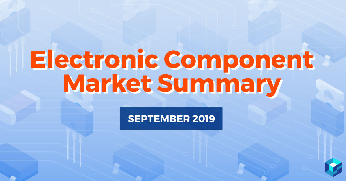 Image with Electronic Component Market Summary printed on it; to learn more about the market and where to procure BOM items from, check out Sourcengine.