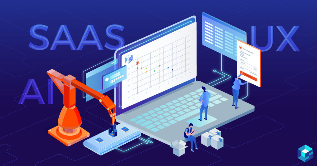Graphic with SaaS, UX, and AI on it denoting various trends in the electronic component industry. Here's what to focus on and how Sourcengine can help you meet all your procurement needs in the electronic components industry.