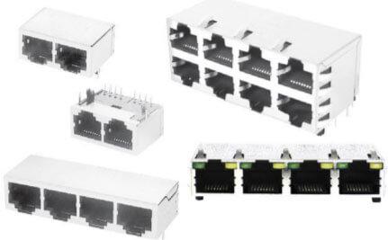AdamTech modular jacks with integrated magnetics