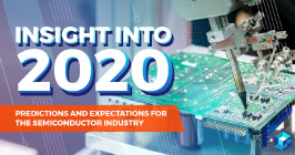 "Prefabricated circuit board with wording laid over it that reads ""2020 industry insight""; get more electronic components industry insight on supply chain procurement at Sourcengine."
