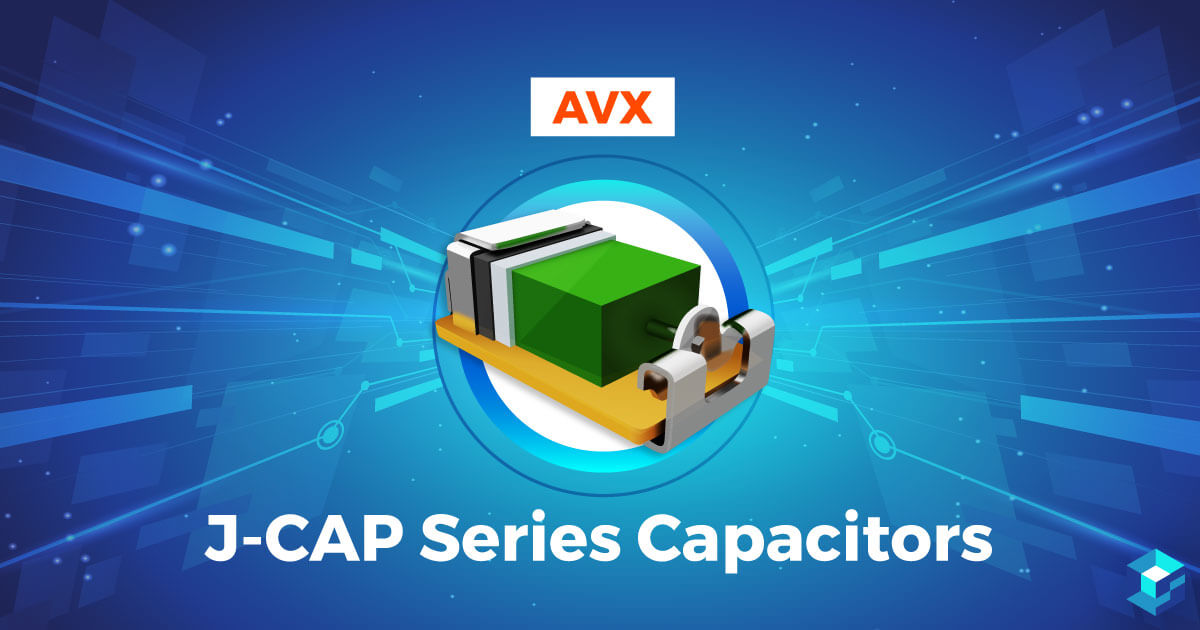 AVX J-Cap Series Capacitor with the name of it on image; Sourcengine has plenty more information about electronic components, including best pricing, on its e-commerce marketplace.