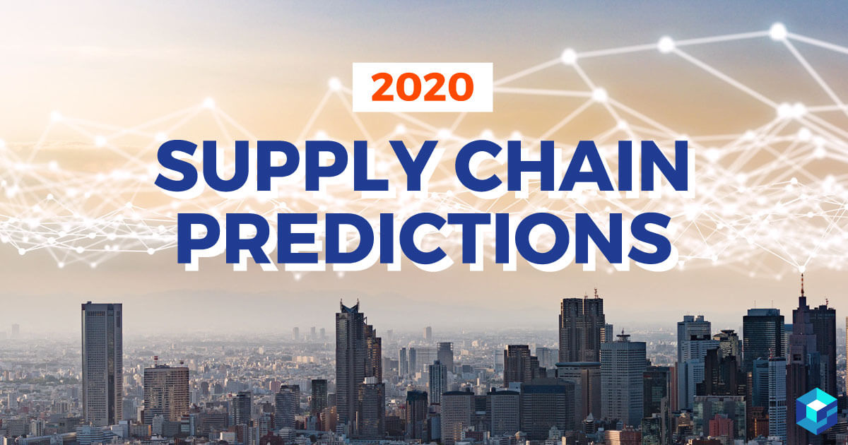 Graphic with supply chain predictions printed on it. Learn more about supply chain predictions for the electronic components industry at Sourcengine.