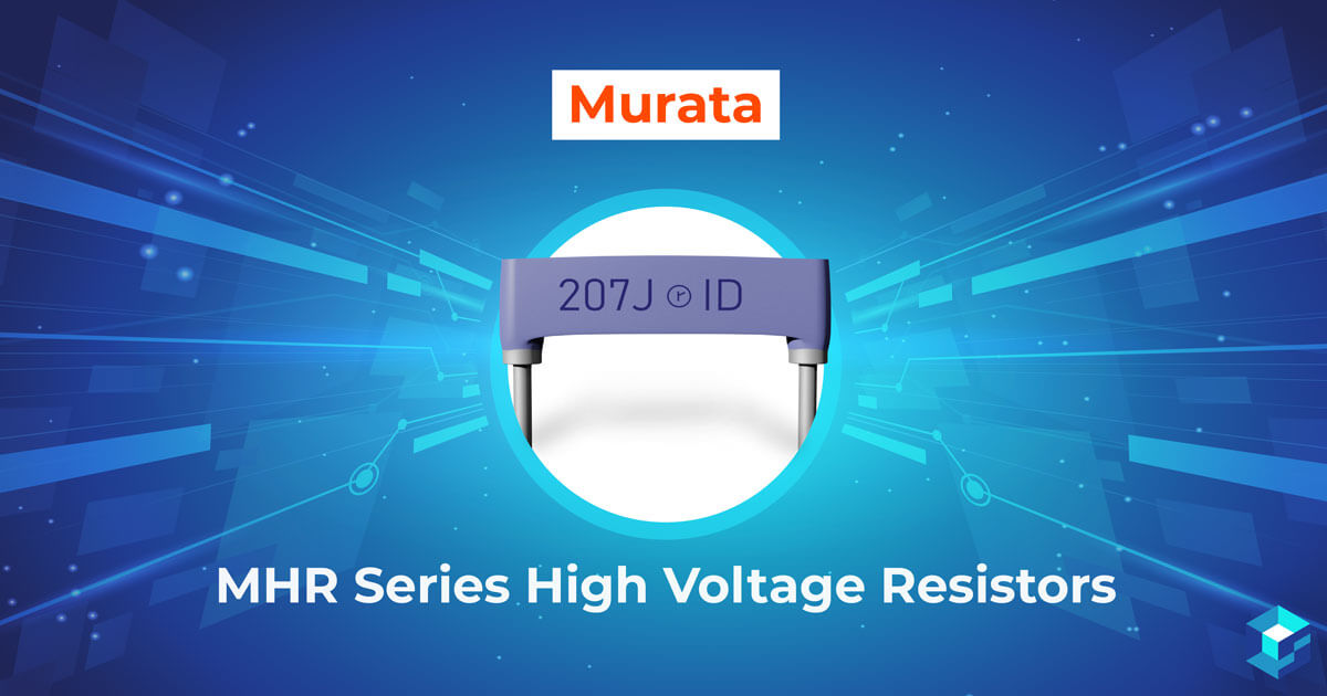Graphic with Murata MHR Series High Voltage Resistors printed on it; take a look at all of Sourcengine's offerings of electronic components.