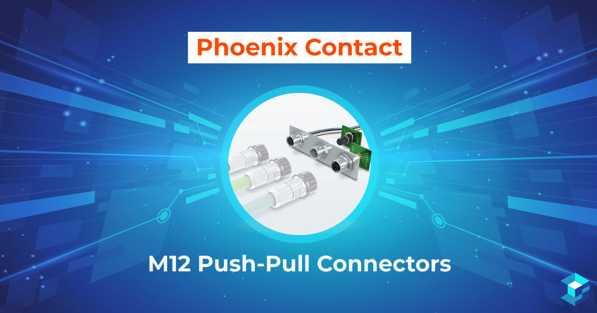 Image with Phoenic Contact M12 connector on it; find out more about this component and others offered by this company on Sourcengine.