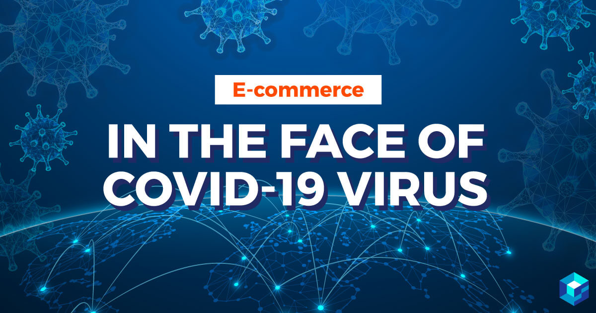Image with E-Commerce in the Face of Covid-19 printed on it. This article discusses digital solutions for today's supply chain. It's all here at Sourcengine.