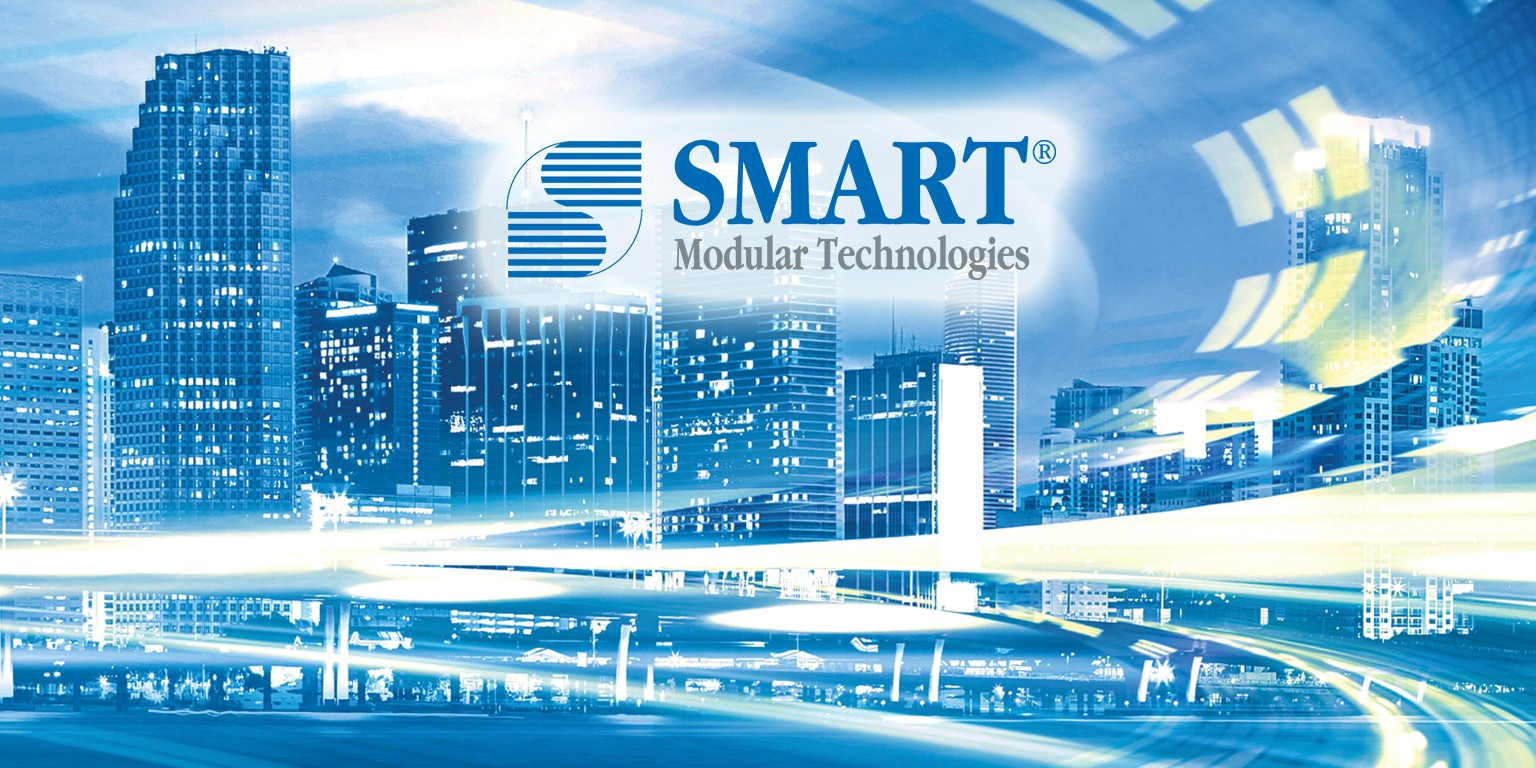 Smart city backdrop with words Smart Technologies printed on it; find out how Smart Modular DuraFlash can help your next project. Check it out, here, on Sourcengine.