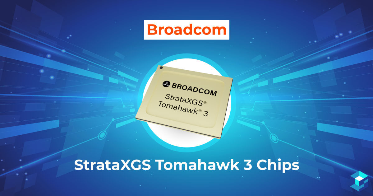 Image with Broadcom's BCM56980BOKFSBG StrataXGS Tomahawk printed on it. Learn about compatibility and availability of this chip on Sourcengine.