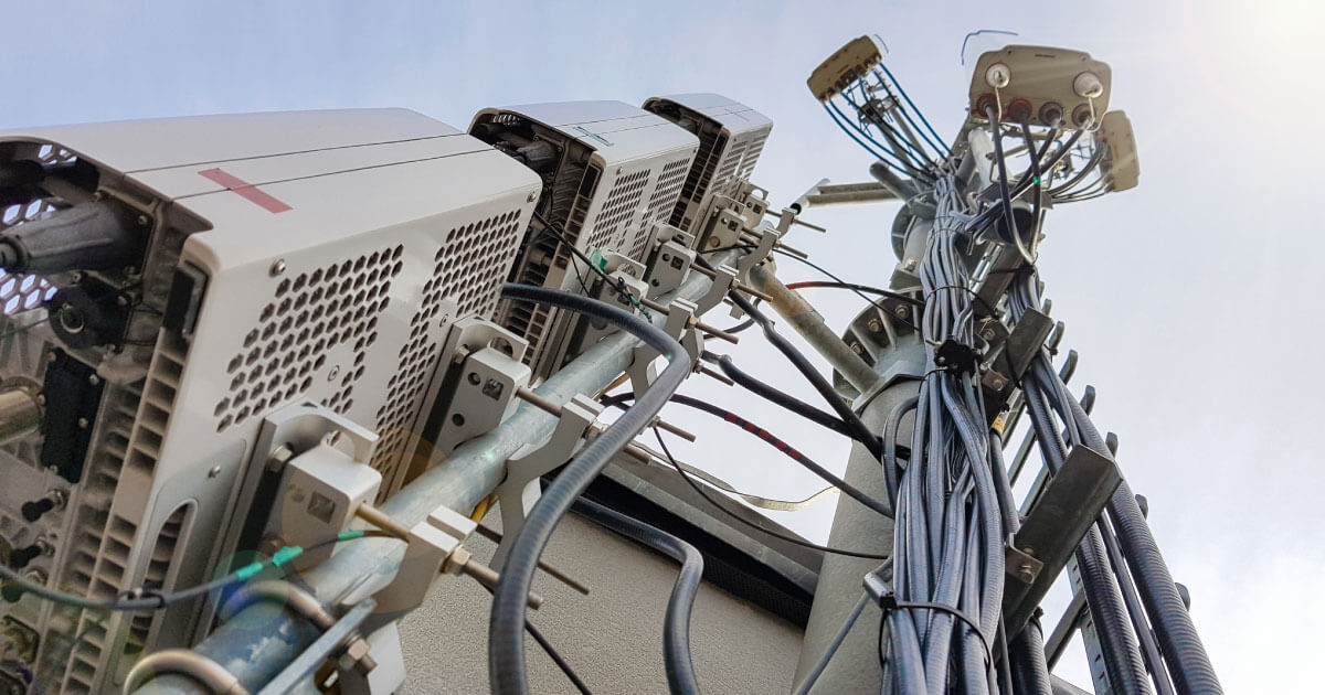 5G antenna tower; fifth generation technology is set to drive semiconductor demand in 2020 and beyond