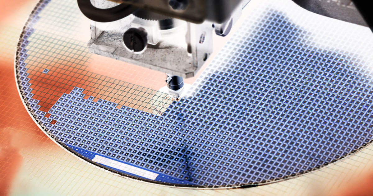 Wafer technology under design engineering; for more on the latest chips and components, see Sourcengine's growing list of manufacturers and suppliers.