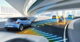 NXP image showcasing its new sensors for automotive and driver safety. Take a look at NXP featured products here on Sourcengine.