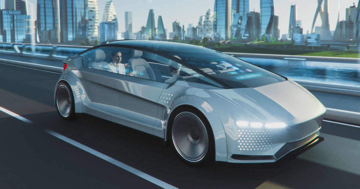 Autonomous car taking a passenger to a specified definition; Microchip Technology's CoaXPress 2.0 is a versatile component with many applications in the automotive and robotics spaces. See it here on Sourcengine.