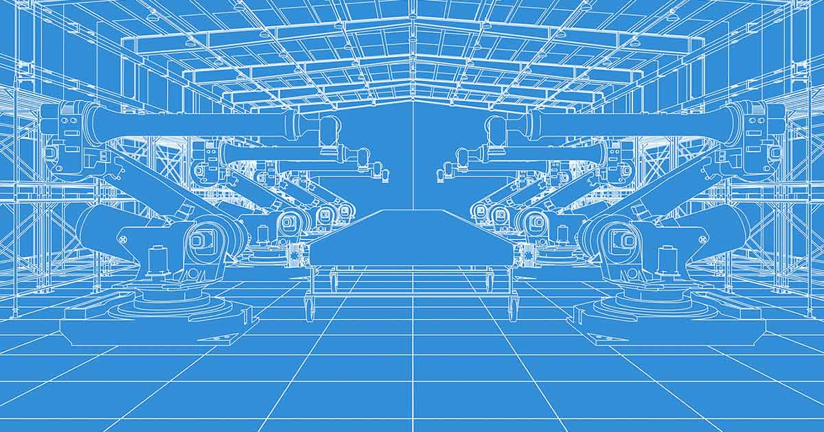 Blueprint visual of fabrication center; Samsung's new factory in Austin, Texas will help shore up supply routes in N. America. For the latest industry news and sourcing components, see Sourcengine.