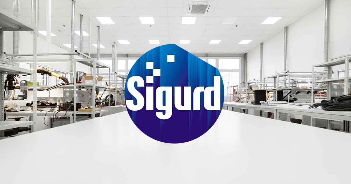 Sigurd logo overlaid on a clean room; for the latest component industry news and for all your sourcing needs, see Sourcengine.