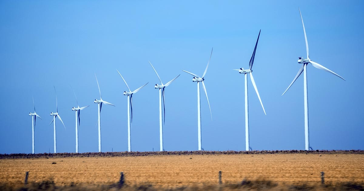 Image of wind turbines in Texas; due to severe weather conditions in Texas, several manufacturers (including Samsung, Infineon, NXP) have temporarily shuttered factories to divert electricity to residents. If you're looking to source components during these difficult days, take a look at Sourcengine's marketplace.