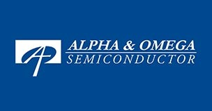 Alpha and Omega Semiconductor (AOS) logo; with semiconductors in short supply, manufacturers should look to AOS for crosses and alternates. Take a look at Sourcengine for more information on AOS lead time, availabilities and pricing.