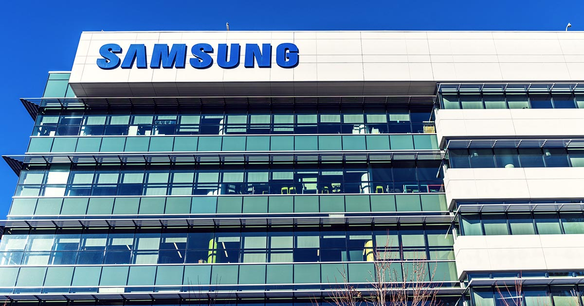 Samsung corporate office building; Samsung's new U.S. facility may help bolster the supply chain route. Until then, professional buyers can look to sourcengine.com for their procurement needs.