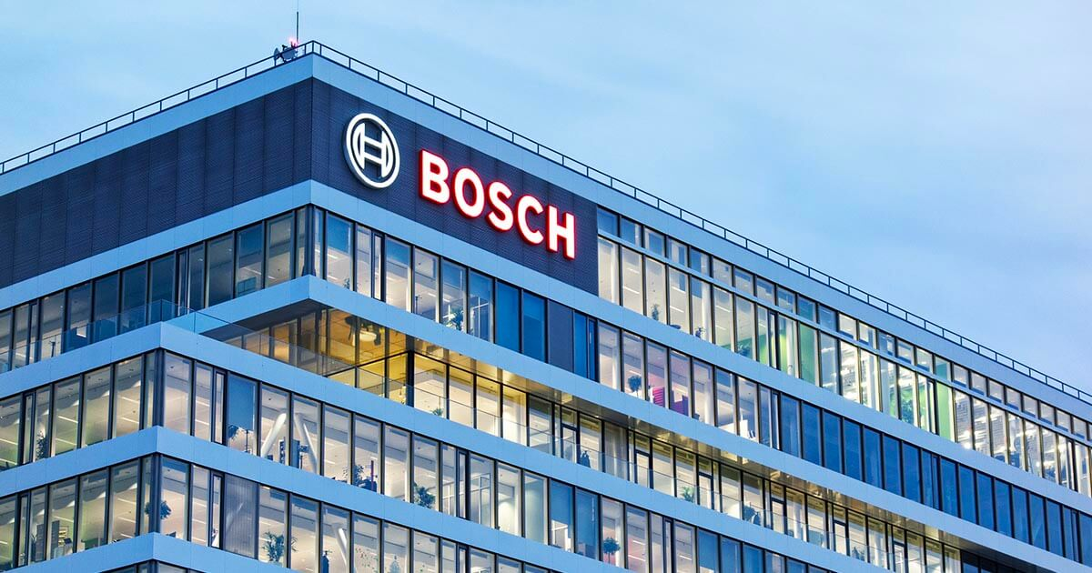 Bosch Semiconductor office building; as the EU prepares to build out its domestic semiconductor hub, what does this mean for supply chain routes? Good news, we're sure. In the meanwhile, learn more about shoring up your own supply chain by using sourcengine.com.