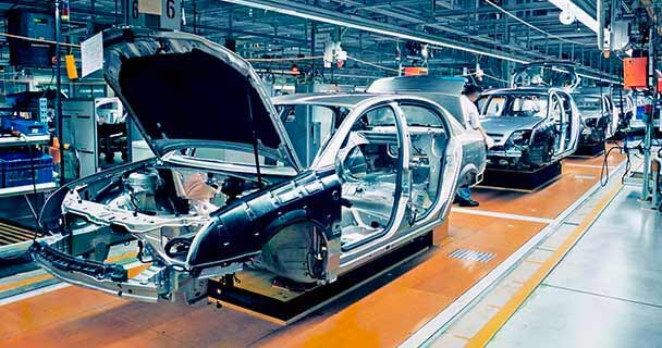 Car on assembly line; the South Korea government is investing $178 billion dollars into its auto chip manufacturing process to counteract the semiconductor shortage. To procure your components during the semiconductor shortage, check out sourcengine.com.
