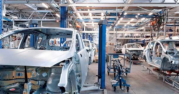 The interior of an automobile assembly center. Sourcengine hosts part listings from over 3,000 fully vetted electronic component vendors.
