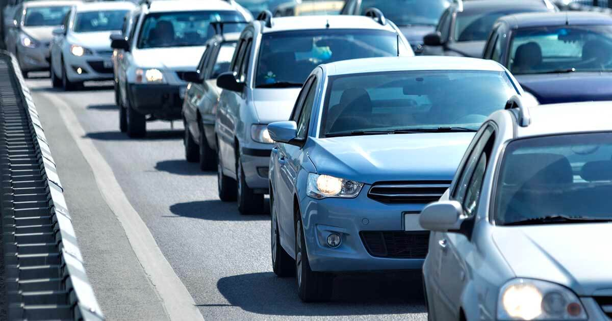 Cars and SUVs driving on a busy freeway. Sourcengine features detailed listings for over 550 million electronic components.