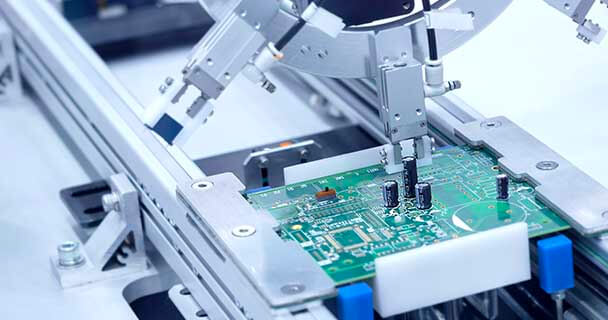 Printed Circuit Board (PCB) Being Assembled