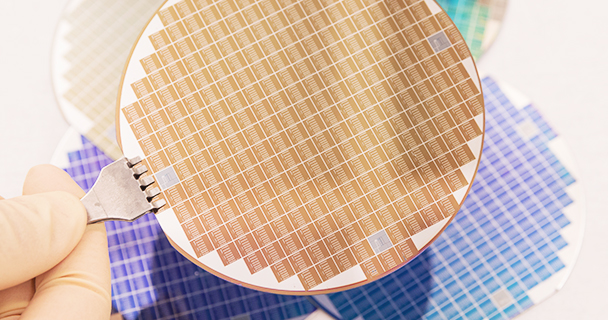Silicon wafer being made into a batch of microchips | Sourcengine