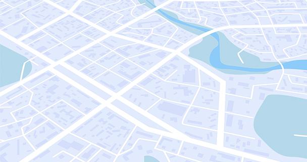 A vector map of a nondescript contemporary urban area | Sourcengine